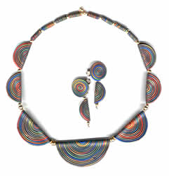 Necklace with Fold Over Beads